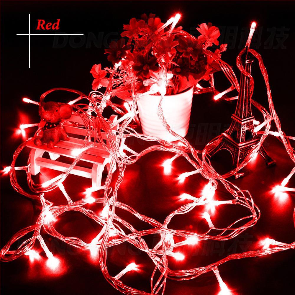 9 warna 33ft 100 Led christmas light 10m fairy string party Led lampu - Pencahayaan perayaan - Foto 3