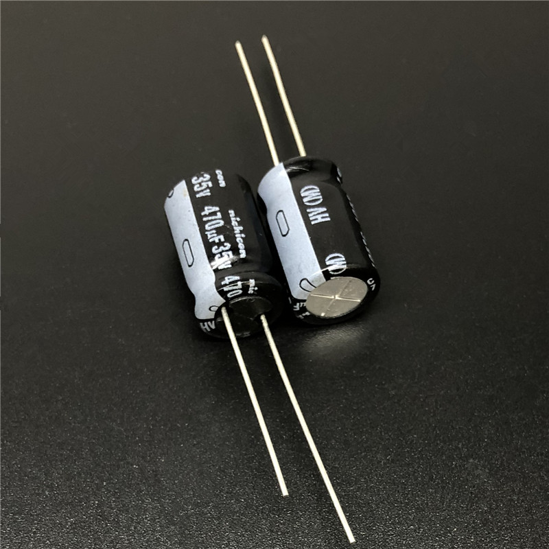 10pcs/100pcs 470uF 35V NICHICON HV Series 10x16 High Ripple Current Low Impedance 35V470uF Aluminum Electrolytic Capacitor