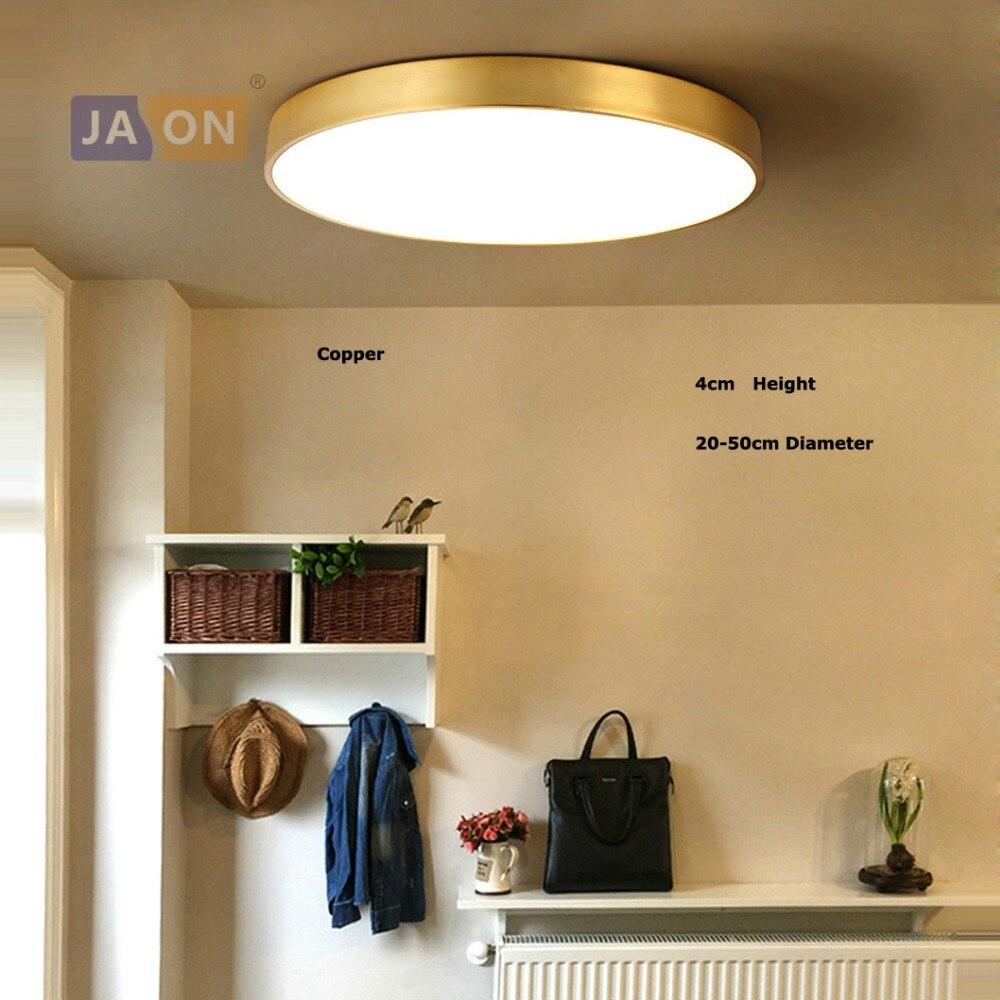 LED Modern Acrílico Cobre Rodada 4 cm Ultra Fino CONDUZIU a Lâmpada. DIODO EMISSOR de Luz. luzes de teto. LED Luz de Teto. lâmpada do teto Para O Quarto Foyer