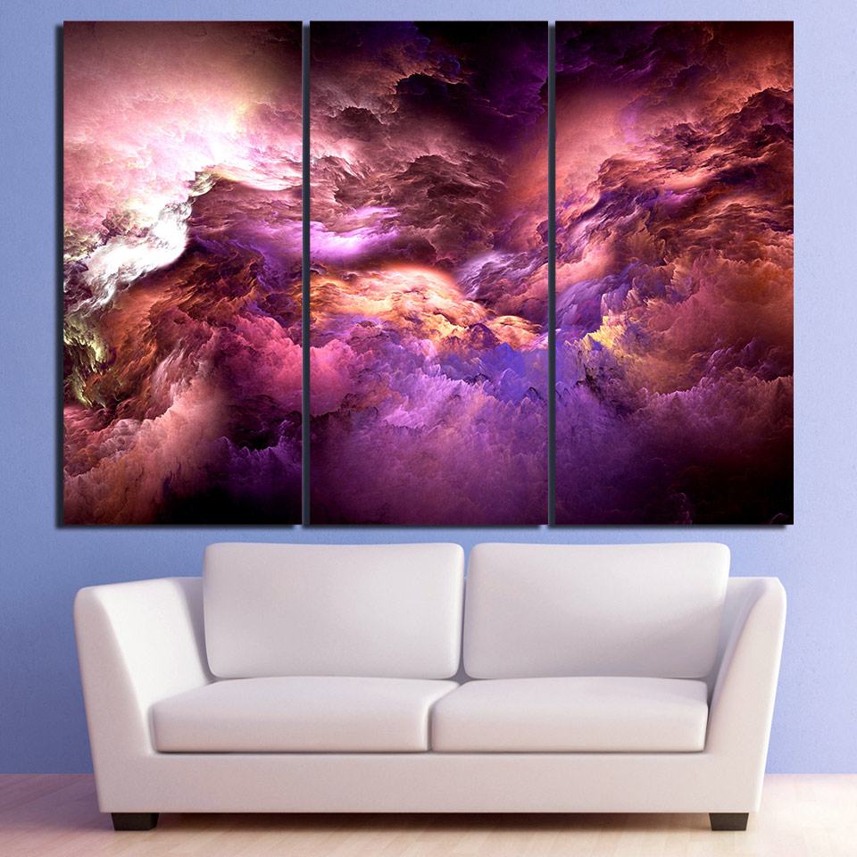 Triptych full Diamond Embroidery abstract art psychedelic nebula space cloud Diamond Painting 3pcs mosaic Diamond picture decor in Diamond Painting Cross Stitch from Home Garden