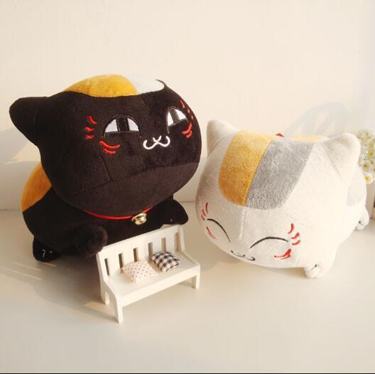60cm Anime Natsume Yuujinchou Nyanko Sensei cat plush toy doll White and black Plush Cat 4 designs can be chosen 18cm japanese anime natsume yuujinchou takashi natsume with nyanko sensei pvc action figure model collection toy gift