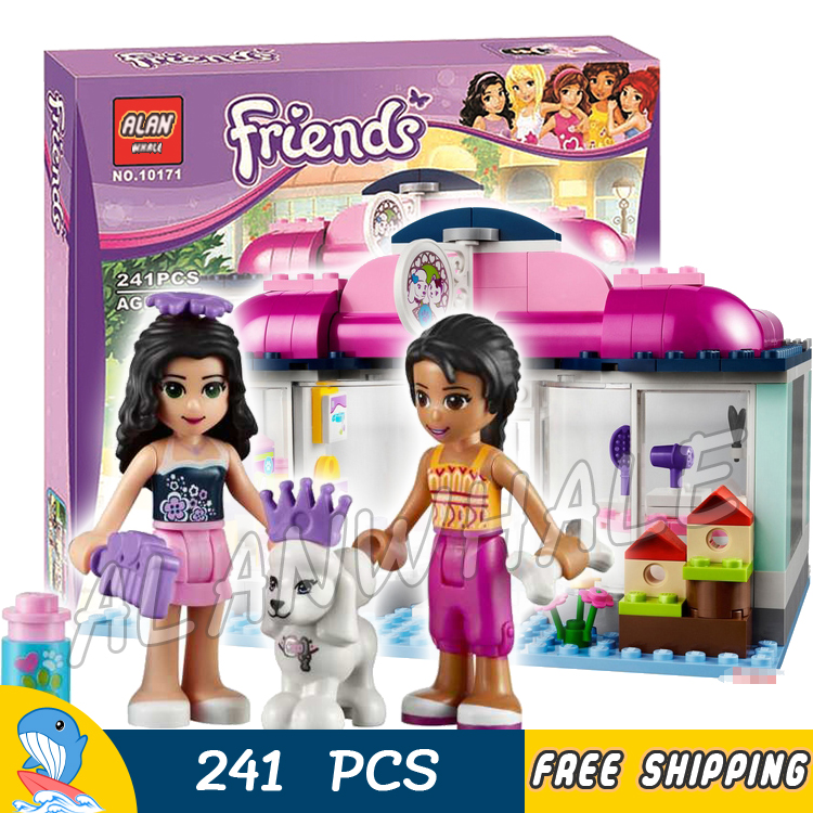 все цены на  241pcs Bela 10171 New 2016 Girls Friends Series Heartlake Pet Salon Building Blocks Toy Bricks Compatible With lego  в интернете
