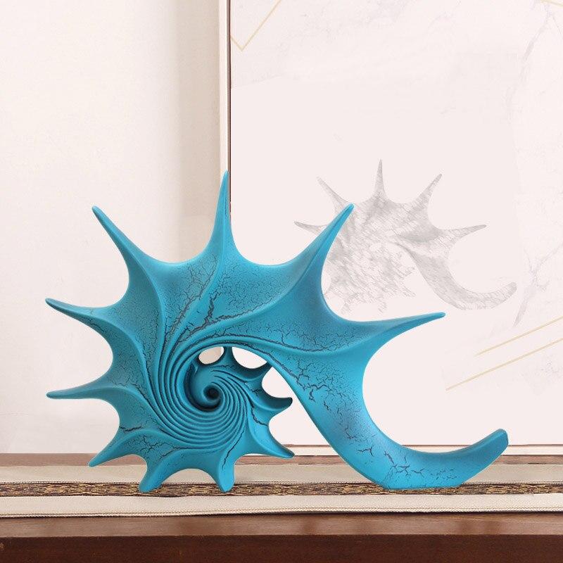 ERMAKOVA coquillage conque Figurine Sculpture décorative maison bureau bureau océan Animal Statue cadeau