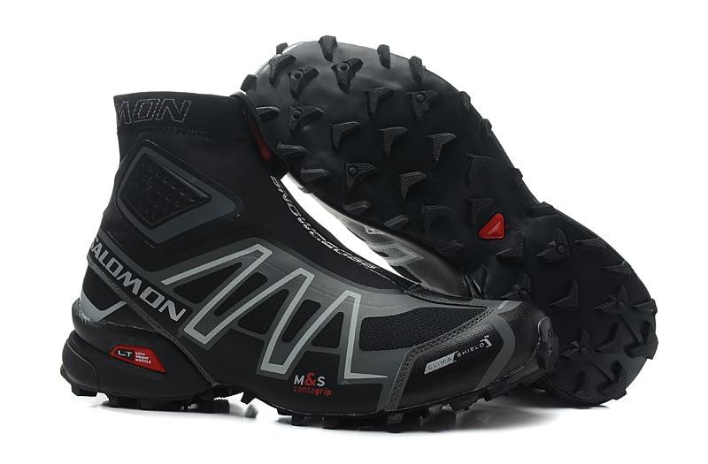 buy online cbec5 46d7c ... wholesale 2018 salomon speed cross cs snowcross sneakers men running  shoes classic blue outdoor warm speedcross