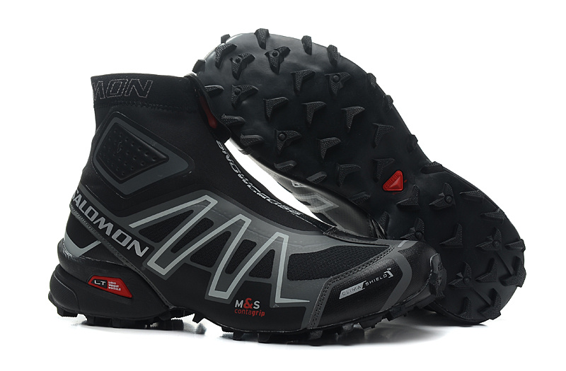 buy online 3bc7e 4584e ... wholesale 2018 salomon speed cross cs snowcross sneakers men running  shoes classic blue outdoor warm speedcross