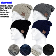 יוניסקס החורף חיצוני ספורט אלחוטי Bluetooth 4.2 אוזניות סרוג כובע סטריאו קסם מוסיקה סרט כובע אוזניות עבור SmartPhone