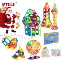 MTELE Mini Magnetic Designer 40 60 100 110Pcs DIY Building Blocks Construction Christmas Gifts For Children