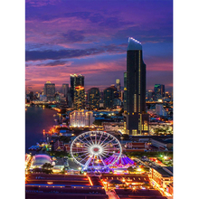 Hot Sale 5D Diy Painting Diamond Cross Stitch Needlework Embroidery Full Decorative Luminous Ferris Wheel