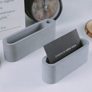 Image 4 - Molde de concreto para celular, suporte para telefone, argila de cimento, decoração de mesa, suporte para cartão, gesso, artesanato, silicone