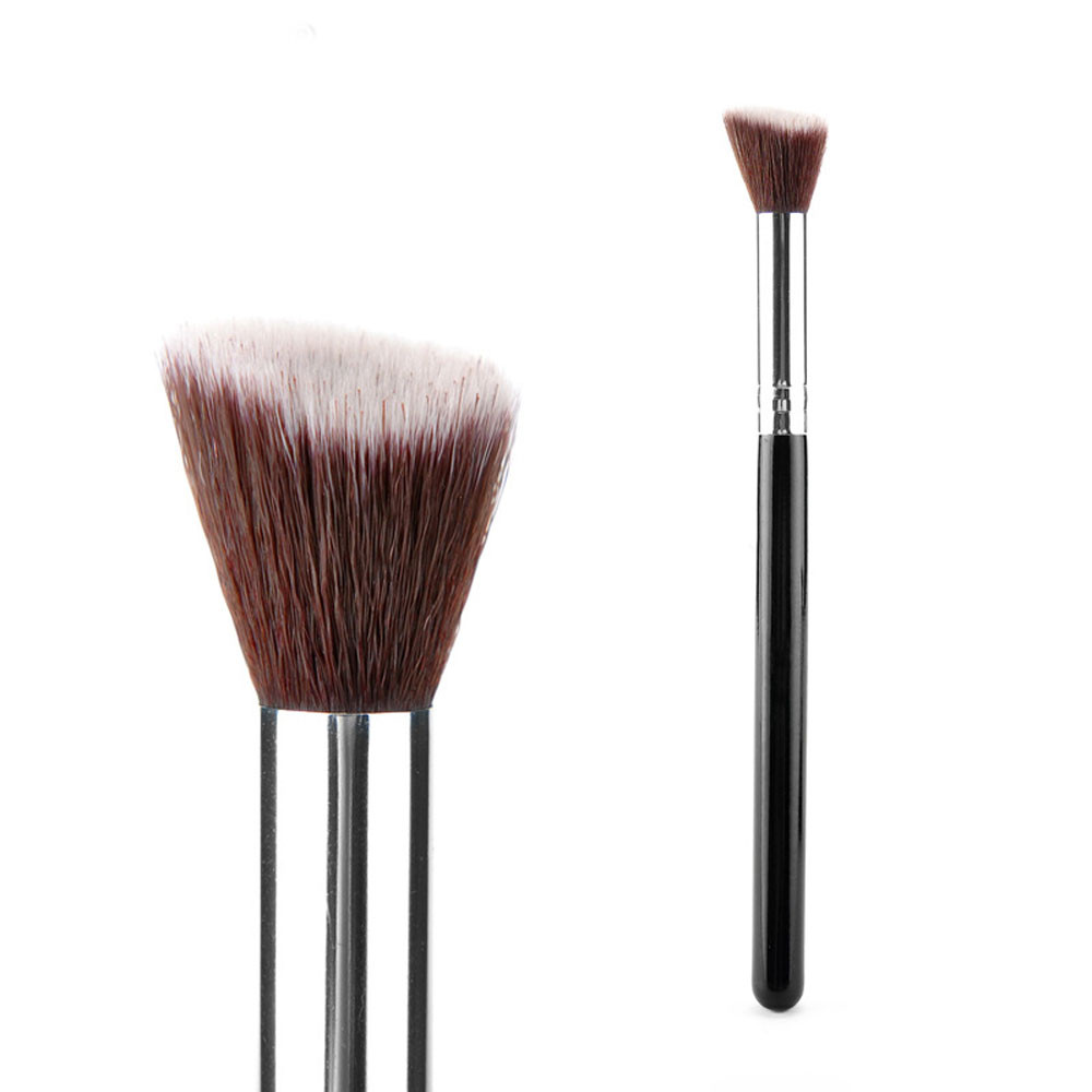 2017  Makeup brushes professional Cosmetic Face Blush Make up Brush Powder Foundation Tools Top quality Free shipping new makeup brushes black aluminum retractable blush brush make up professional tools nice gift for you maquiagem face concealer