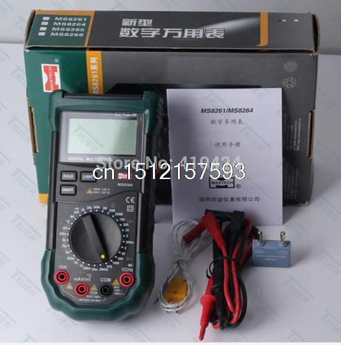 MS8264 Digital Multimeter Capacitance Frequency Temperature Meter Multimetro Multitester Protection Circuit Anti-Burn цены