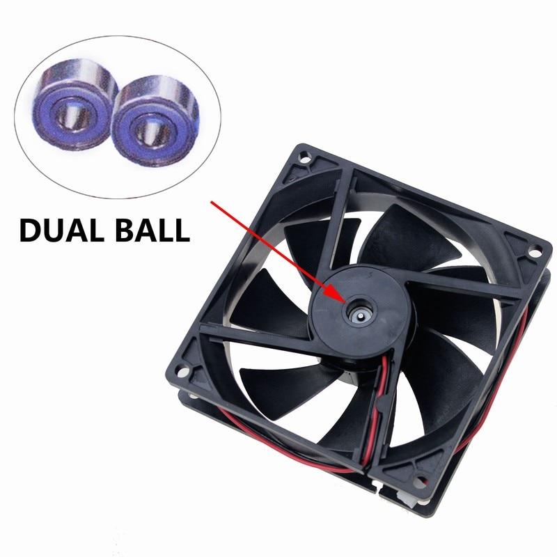 1pcs Brushless DC Cooling Fan 12V92mm 92x92x25mm 9025 2pin connectors