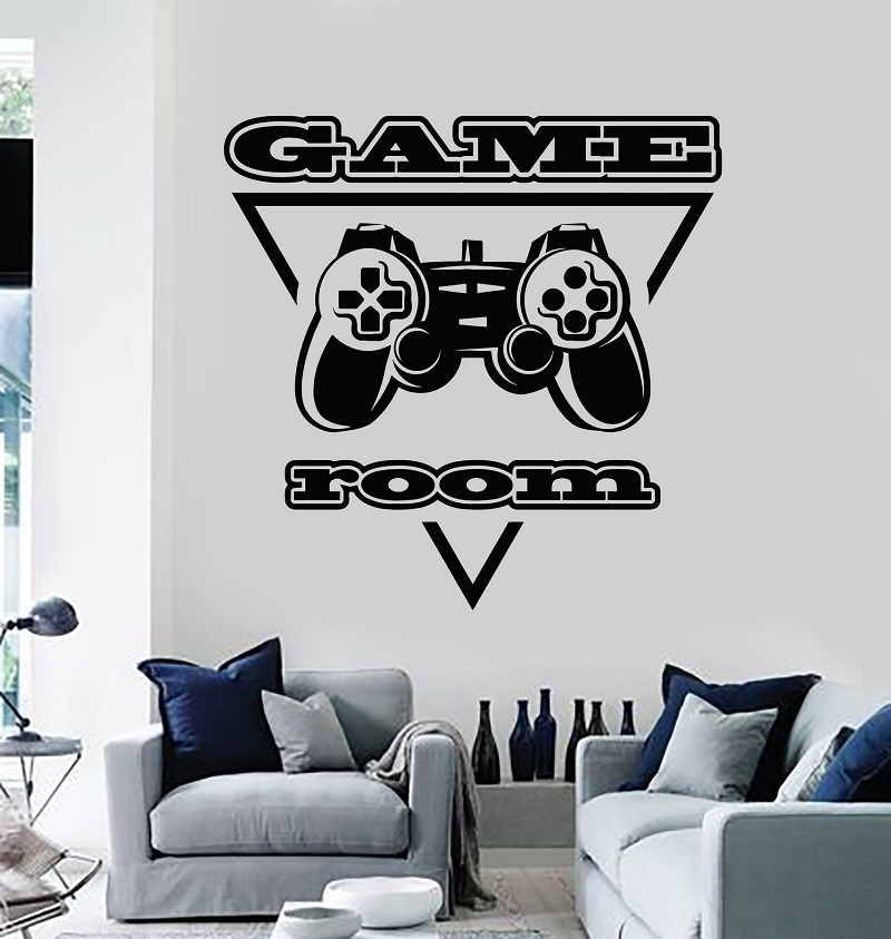 Vinyl wall decal PC game player joystick video game game room sticker mural game fan teen boy bedroom home decor 2YX26 image