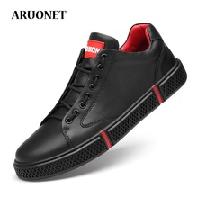 ARUONET Big Size Brand Genuine Leather Shoes Men Casual Shoes Men Sneakers Summer White Male Leather Shoes Chaussure Cuir Homme cangma luxury brand mens designer shoes elegant genuine leather superstar men casual white handmade shoes chaussure homme 2017