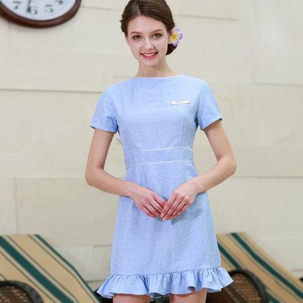 New Arrivals Beauty Work Uniform Short Sleeve Summer SPA Dress Sky Blue Nice Uniform High Quality Pink Work Clothes