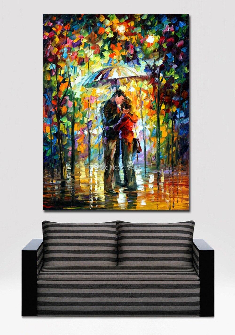 beso en el parque farmeless paleta de colores modernos pintura impresa sobre lienzo de pared imagen