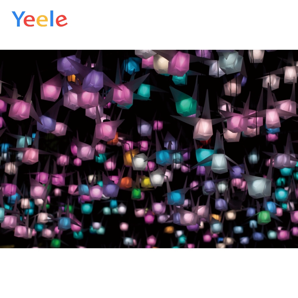 Yeele Festival Decor Photocall Paper Crane Lanterns Photography Backdrops Personalized Photographic Backgrounds For Photo Studio in Background from Consumer Electronics