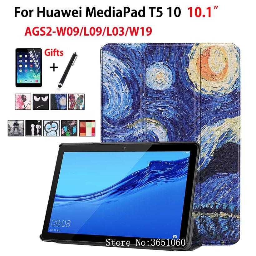 estilo novedoso nueva suave y ligero US $9.99 30% OFF|Case For Huawei MediaPad T5 10 AGS2 W09 AGS2 L09 AGS2  L03/W19 10.1