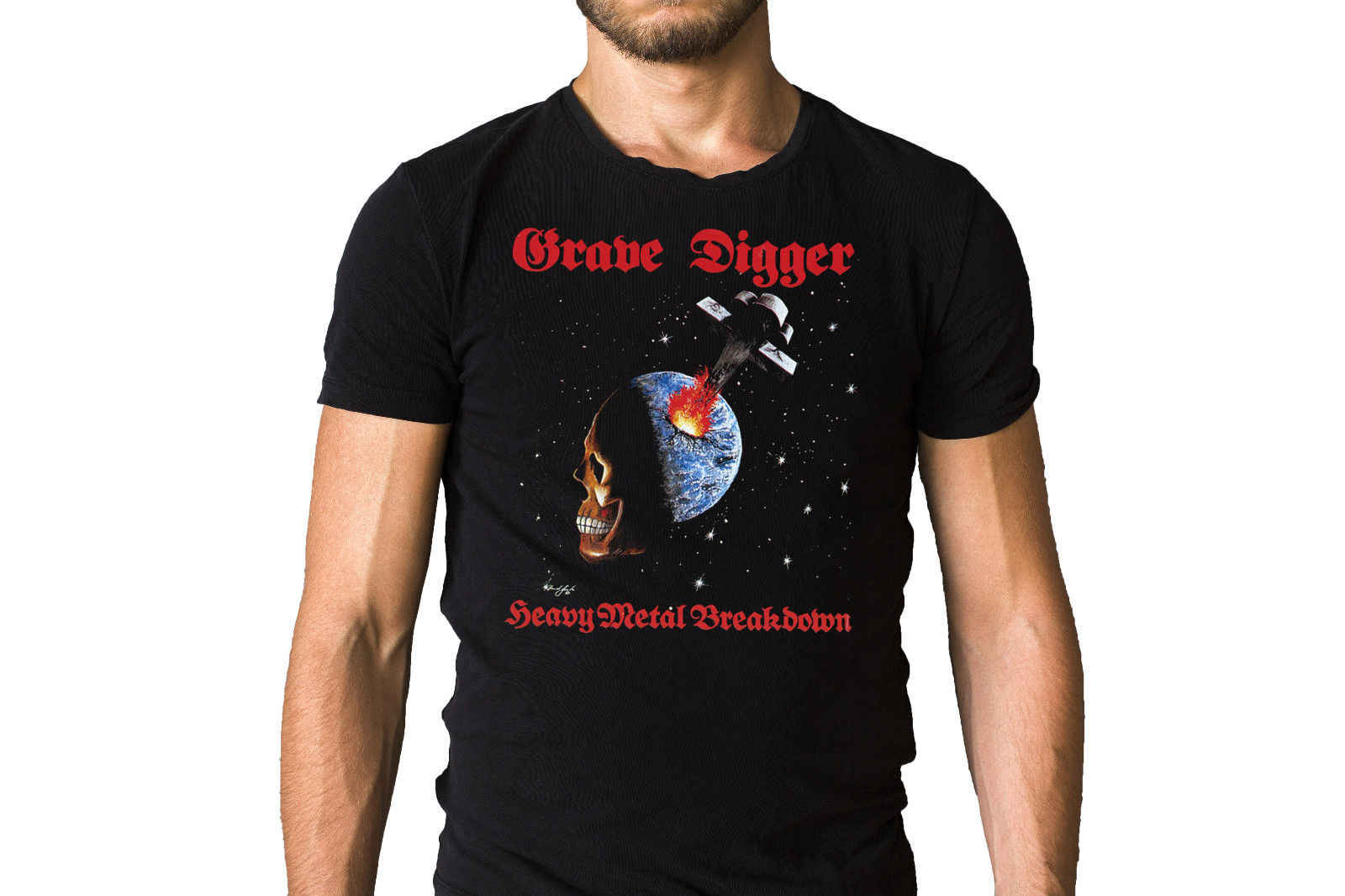 Grave Digger Heavy Metal Breakdown 1984 Album Cover T-Shirt New Arrival Male Tees Casual Boy T Shirt Tops Discounts
