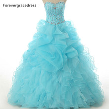 Forevergracedress Real Pictures Ruffles Sweetheart Quinceanera Dress New Arrival Organza Long Formal Party Gown Plus Size