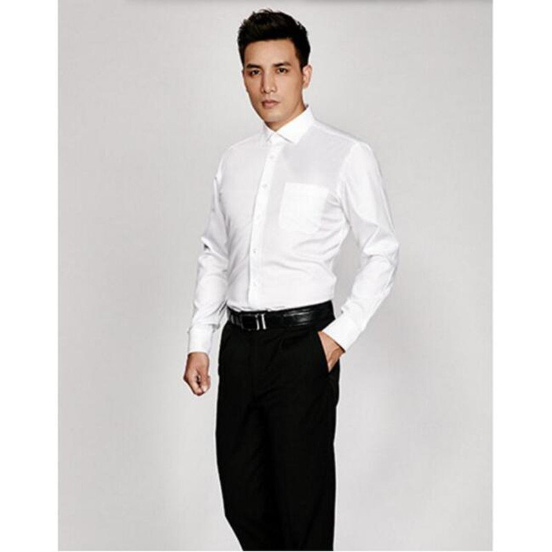 New arrival men shirt groom wedding shirt high quality solid color contracted and fashion formal shirt business shirt long sle