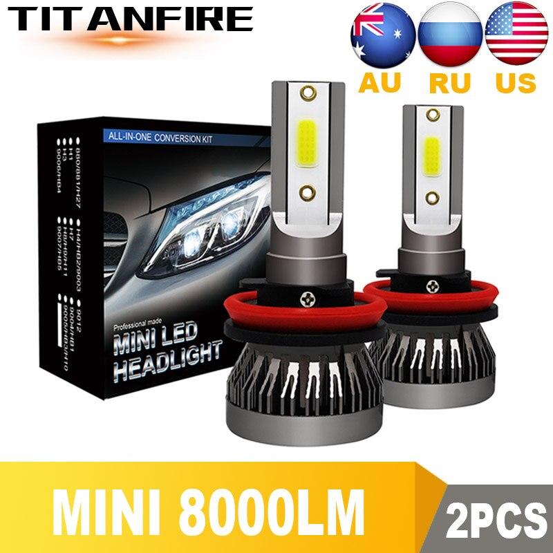 TF30 2Pcs/lot Car Light H4 H7 H1 H11 H9 H8 HB3 9005 HB4 9006 HB2 9003  HB1 9004 12V/24V LED Headlight Car Bulbs