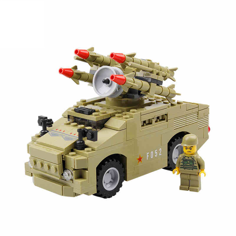 KAZI 98401 Military Anti-aircraft Missiles System Building Blocks Model Sets 266pcs Educational Bricks Toys For Children 2017 kazi 98405 wz 10 military helicopter blocks 480pcs bricks building blocks sets enlighten education toys for children