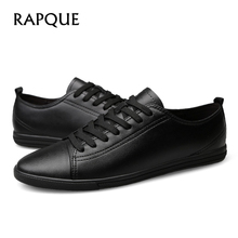 Mens Casual Shoes Äkta Läder Brogue Flat Heel Shoe Men Designer Walking Köra Man Skor Lyx Sneakers 20188 RAPQUE