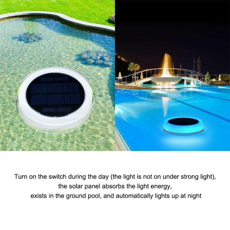 Solar led piscina luz rgb controle remoto