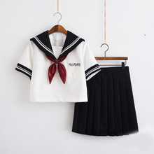 High school student JK uniform Japanese sailor suit girl skirt college wind female