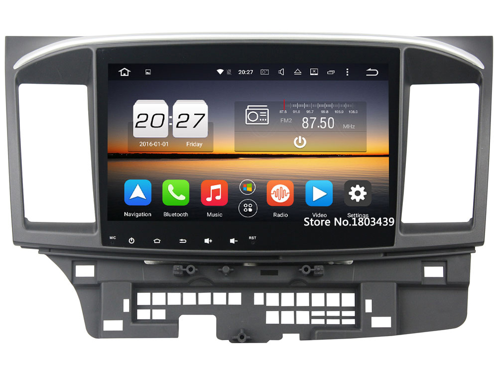 2GB RAM 32GB ROM Android 6.0.1 Octa Core LCD Touch screen Car audio 12v auto radio player bluetooth For Mitsubishi Lancer 2015