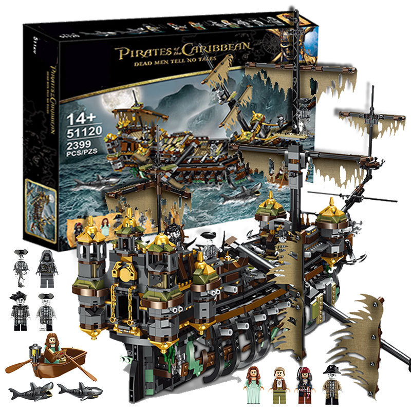 SLPF Children Educational Building Blocks Movie Series The Pirate Ship Sank Model Assembled Splicing Toys Compatible Legoing I15
