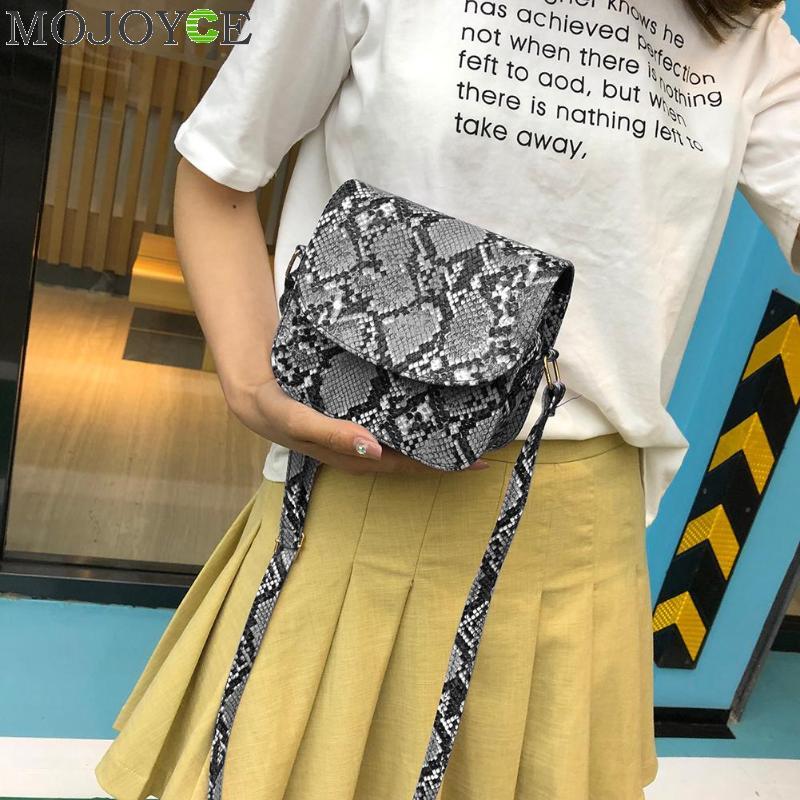 Snake Print Shoulder Messenger Handbags Women Leather Flap Crossbody Bags Bolsa Feminina