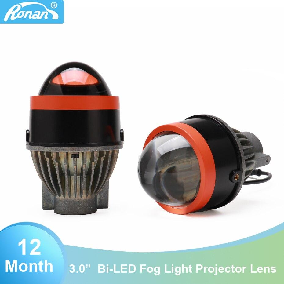 Ronan 3.0 pollice bi led della luce di nebbia 5500 k 2800lm completo impermeabile facile installazione faro dell'automobile per il FAI DA TE retrofit
