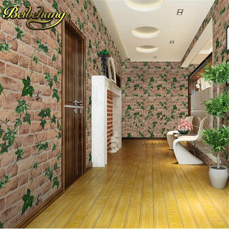 beibehang brick wallpaper PVC papel de parede 3D wallpaper roll leaf wall paper rolls waterproof for background wall living room 3d papel de parede artificial bamboo wallpaper mural rolls for background 3d photo wall paper roll for living room cafe
