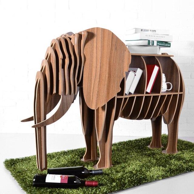 High End Diy Holz Schreibtisch Elefanten Ablagetisch Holz Tier