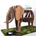 High-end DIY Wood Desk Elephant Storage Table Wooden Animal Wild Africa Elephant Creative Furniture For Art Home Decor TM006M