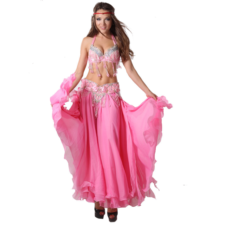 Belly Dance Clothing Oriental Dance Professional 3 piece Outfit Bra Belt Skirt Women Bellydance Costume