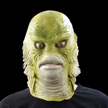 Scary Monster Latex Fish Mask Creature from the Black Lagoon Cosplay Merman Props Adult Halloween Masks майка creature hesh crew black