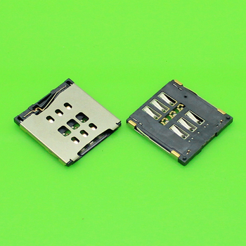 ChengHaoRan 1 Piece new sim card socket for iphone 6 6plus card reader holder tray slot connector.KA-175 image