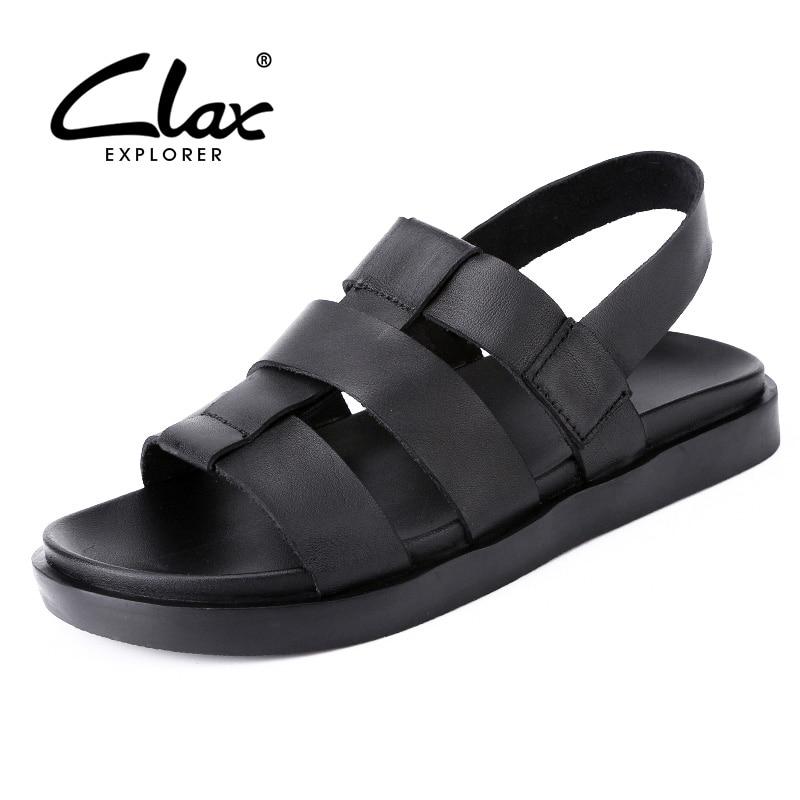 CLAX Män Sandaler Rome Style 2018 Sommar Shoe Breathable Man Äkta - Herrskor