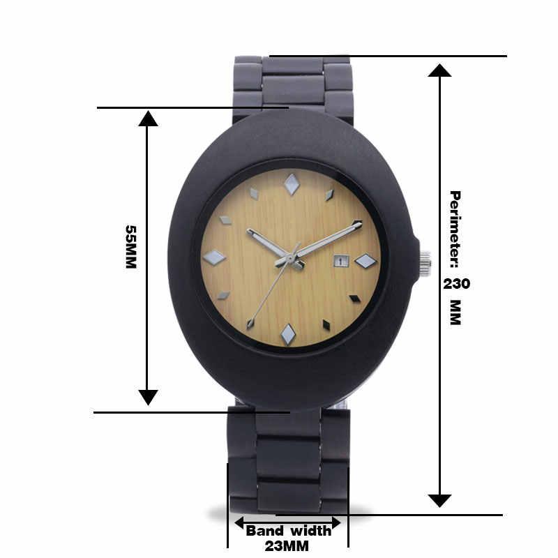 ELMERA wooden watches 2018 men luxury watch male big watches wood custom wristwatch gifts black relogios masculino
