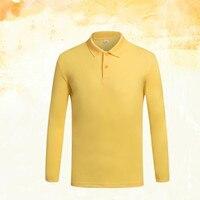 Hot Sale New Fashion Brand Men Polo Shirt Solid Color Long Sleeve Slim Fit Shirt Men