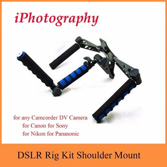 DSLR Rig original Movie Kit Shoulder Mount Photo Studio Accessories for any Camcorder DV Camera Canon Sony Nikon Panasonic