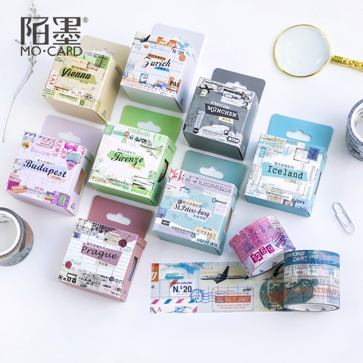 Europe Country Munich St.Petersburg Washi Tape Adhesive Tape DIY Scrapbooking Sticker Label Masking Craft Tape 2pcs original dream watercolor painting washi tape adhesive craft tape diy scrapbooking sticker masking craft tape 7m