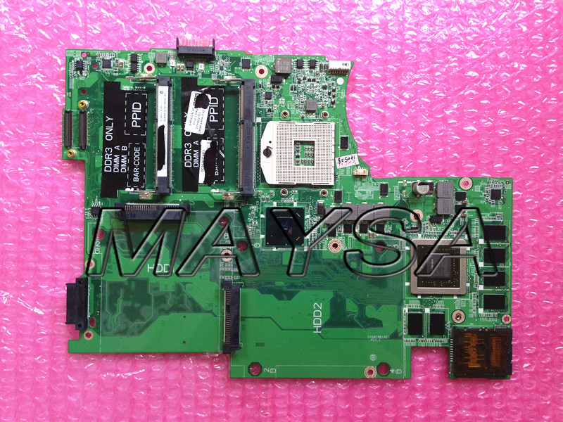 CN-0YW4W5 0YW4W5 YW4W5 DAGM7MB1AE1 Fit For DELL 17 L702X Laptop motherboard HM67 GT 555M N12E-GE-B-A1 MainBoard 100% Tested n12e ge2 b a1