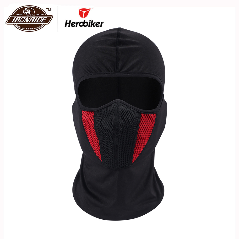 Masker Motosikal HEROBIKER Lelaki Luar Pro Street Outdoor Windproof Dustproof Motorcycle Face Shield Face Mask Moto Balaclava