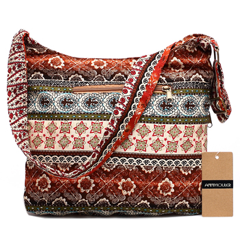 Women Shoulder Bag Bohemian Style Hippie Hobo Bag Double Zipper Bag Sling Crossbody Messenger Bag 1