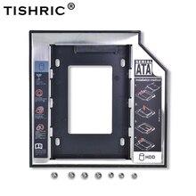 "Tishric Optibay 2nd HDD Caddy 9,5 мм алюминиевый Универсальный SATA 3,0 2,"" SSD чехол жесткий диск адаптер DVD HDD для ноутбука ODD"