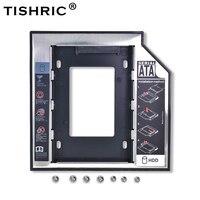 "Tishric Optibay 2nd HDD Caddy 9.5mm aluminium uniwersalny SATA 3.0 2.5 ""obudowa na ssd dysk twardy Adapter DVD dysk twardy dla laptopa ODD w Obudowa dysku twardego od Komputer i biuro na"